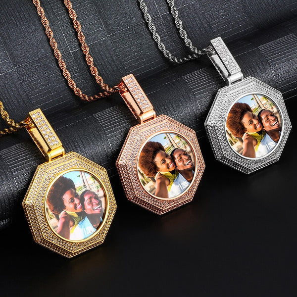 Photo Medallions Necklac