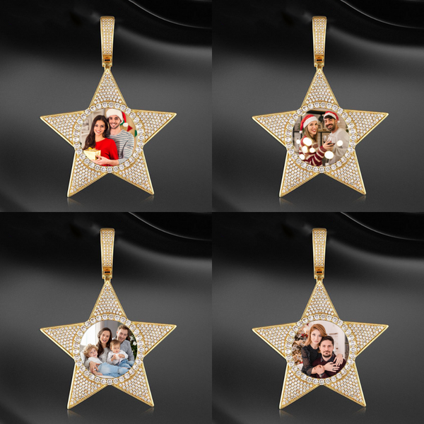 Custom Star Photo Medallions