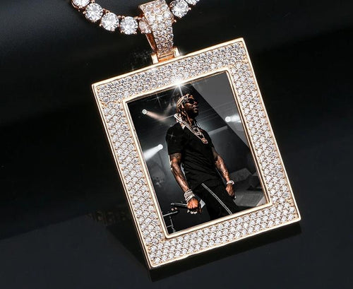 Custom Made Photo Medallions Pendant Chain