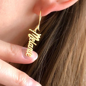 Peribadi 18k Gold Plated Name Earrings