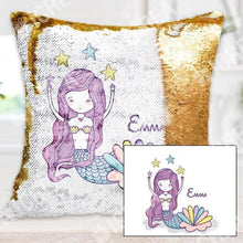 Personalized Mermaid Sequin Pillow Cover