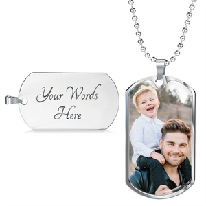 Necklace, enim photo Memorial Gift