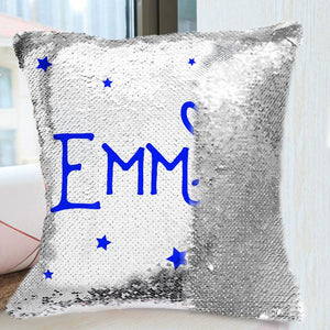 Personigita Sequin Name Pillow Cover