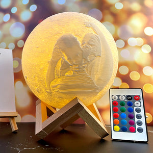 Photo Moon Lamp, Custom 3D Photo Light, Baby Gift