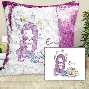 Personigita Mermaid Sequin Pillow Cover