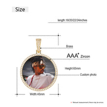 photo medallion necklace - custom size