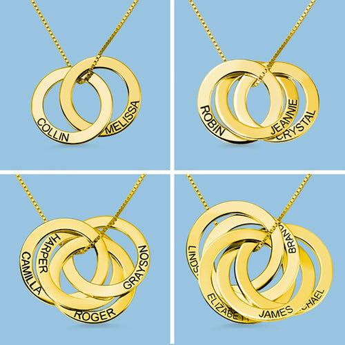 Russian Ring Necklace -Custom Made Gift for Mom