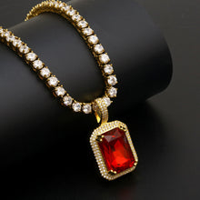 Red Stones Pendant Necklace