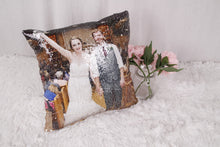 Horse Head Pillow: Print Your Horse's Photo On Pillow Cover Reversible SEQUINS!