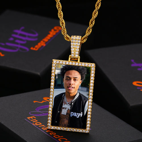 Rectangle Photo Medallion Necklace
