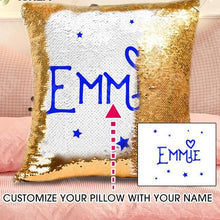 Personalized Sequin Name Pillow Cover