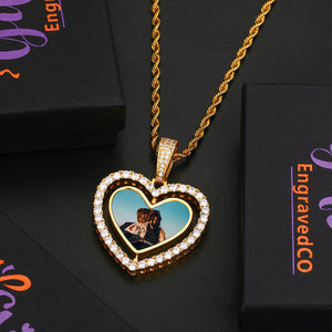 Heart Medallions Pendant Necklace