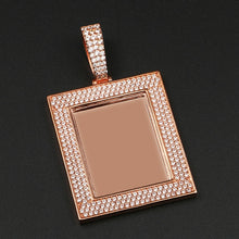 Custom Photo Square Medallions Necklace