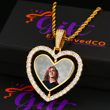 Heart Photo Medallion Necklace