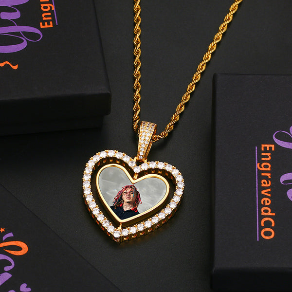 Heart Double-Sided Medallion Necklace