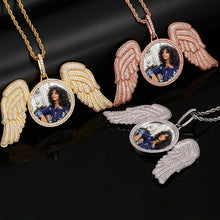 Angel Wings Medallion Necklace