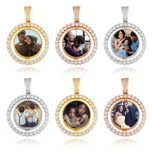 Photo Rotating Medallion Necklace