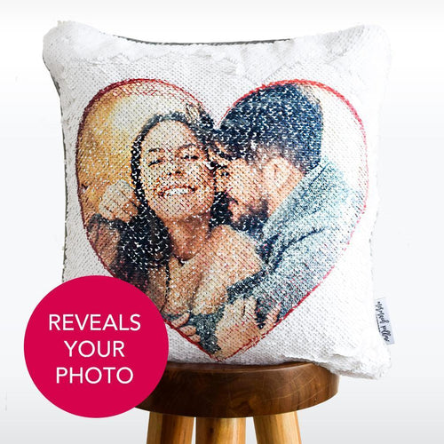 Custom Cupid Cushion Reversible Flip Sequin / Mermaid Pillow Cover New Design For Couples