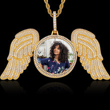 Angel wings medallion gold plated