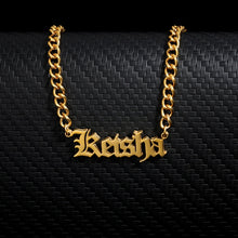 Custom Gold Name Necklace in 18K Gold Plated