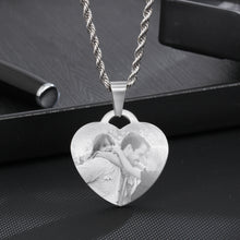 custom photo heart pendant necklace