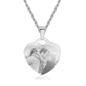 Personalize Heart Photo Necklace- Best Gift For Couple
