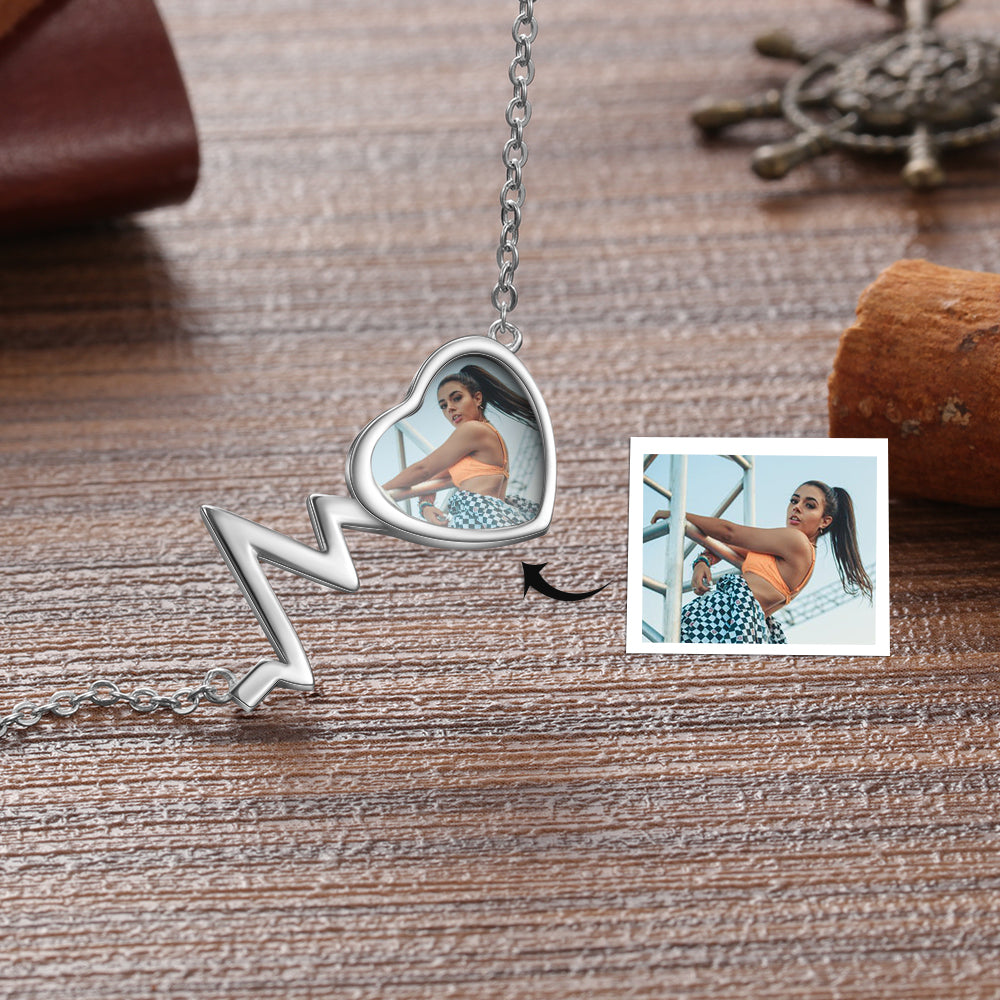 Engraved Heartbeat Necklace