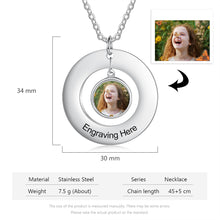 Personalized Photo Necklace- Round Pendant Necklace