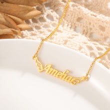 Custom Name Necklace- Personalized Wings Name Necklace