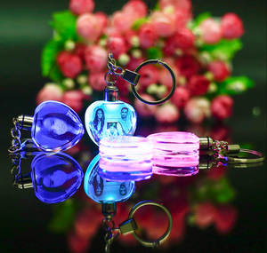 Cute Keychain - LED Key Ring - Christmas Gift - Customize it in your own way