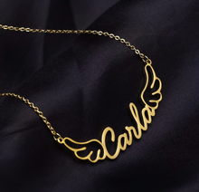 Personalized Name Necklaces With Angel Wings