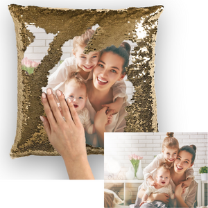CUSTAIMITHE LÁ SEQUIN MOTHERS MOVERIN PILLOW COVER