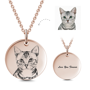 Personalized Pet Photo Necklace- Gift For Pet Lover
