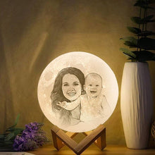 Personalize Photo Moon Lamp, 3D Photo Light, For Mom