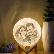 Photo Moon Lamp, Custom 3D Photo Light, Hadiah Kreatif