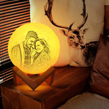Photo Moon Lamp, Custom 3D Photo Lamp, Creative Gift for Valentine's