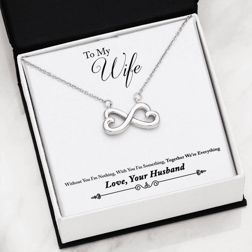 Heart Infinity Necklace Gift From Husband To Wife
