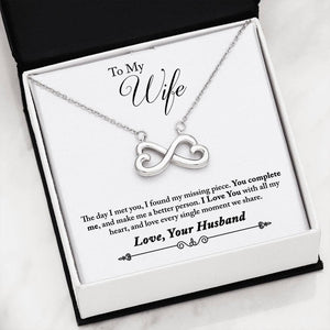 Gorgeous Heart Infinity Necklace From Husband To Wife
