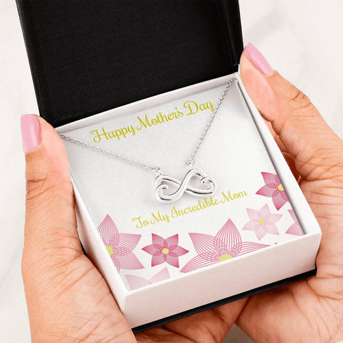 Heart Infinity Necklace-Happy Mothers Day Gifts