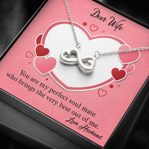 Valentines Day Gifts-Infinity Heart Necklace- Husband to Wife Gift