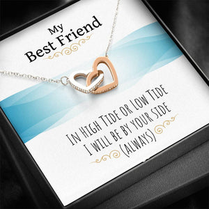 Interlocking Heart Necklace Beautiful Gift For Best Friend