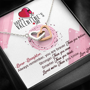 Valentines Day Gifts- Interlocking Hearts Necklace- Mom To Daughter Gift