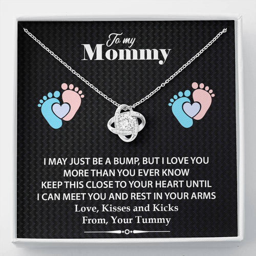Gift For Mommy- Love Knot Necklaces- Mothers necklace From Children's