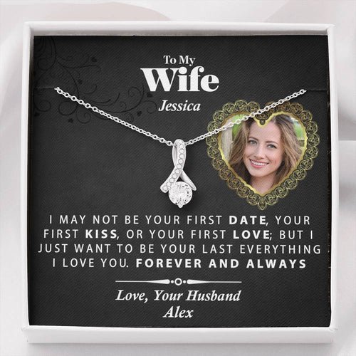 Alluring Beauty Necklace- -Gift For Wife with Custom Photo and Name