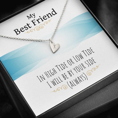 Sweetest Hearts Necklace For Best Friend With Message Card