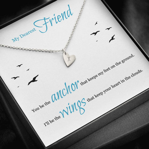 Sweetest Hearts Necklace Gift For Dearest Friend with Message Card