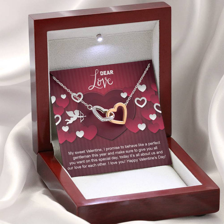 Interlocking Hearts Necklaces