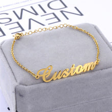 Personalized Name Bracelet In 18K Gold Plated