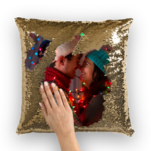 Custom Reversible Flip Sequin / Mermaid Pillow Cover for Valentine's day