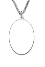 Personalized Photo Pendant Necklace-Oval Shape Photo Engraving Necklace